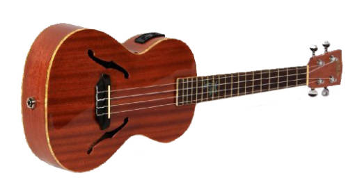 kala archtop tenor electric ukulele natural long mcquade musical instruments. Black Bedroom Furniture Sets. Home Design Ideas