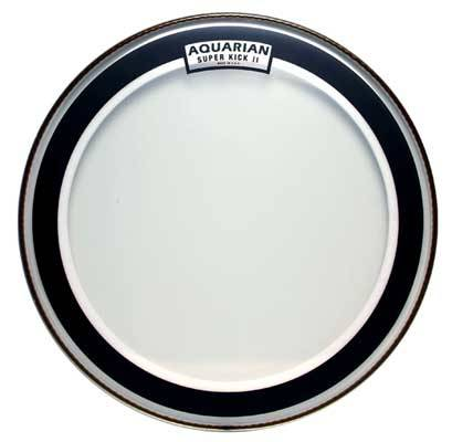 aquarian super kick ii 20 inch two ply clear drum head long mcquade musical instruments. Black Bedroom Furniture Sets. Home Design Ideas