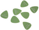 Traynor - Delrin Standard Guitar Picks Pack of 12 - 0.96mm