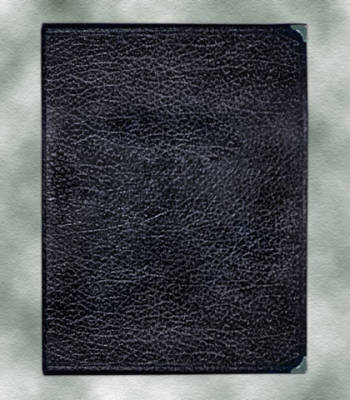 Leatherette Choral Folio With 2 Strings - Black