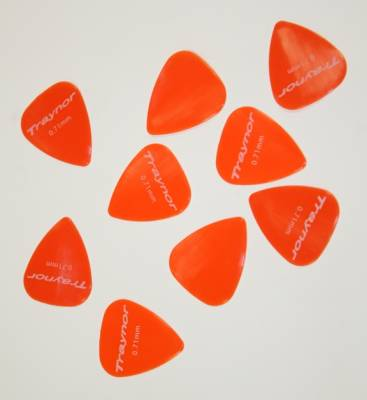 Nylon Standard Guitar Picks Pack of 12 - 0.71mm