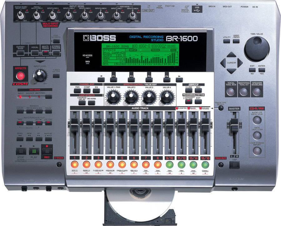 66e9159bebf BOSS BR-1600CD - Digital Recorder - Long & McQuade Musical Instruments