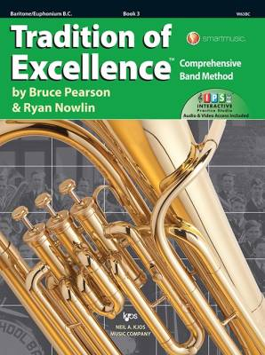 Tradition of Excellence Book 3 - Pearson/Nowlin - Baritone/Euphonium B.C. - Book/Media Online