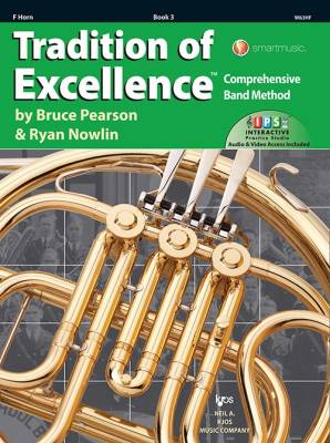 Tradition of Excellence Book 3 - Pearson/Nowlin - F Horn - Book/Media Online
