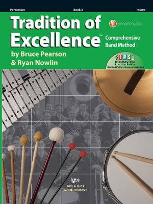 Tradition of Excellence Book 3 - Pearson/Nowlin - Percussion - Book/Media Online