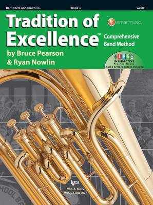 Tradition of Excellence Book 3 - Pearson/Nowlin - Baritone/Euphonium T.C. - Book/Media Online