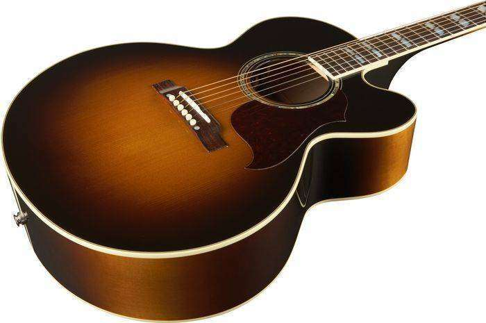 gibson j 185 jumbo acoustic electric with cutaway long mcquade musical instruments. Black Bedroom Furniture Sets. Home Design Ideas