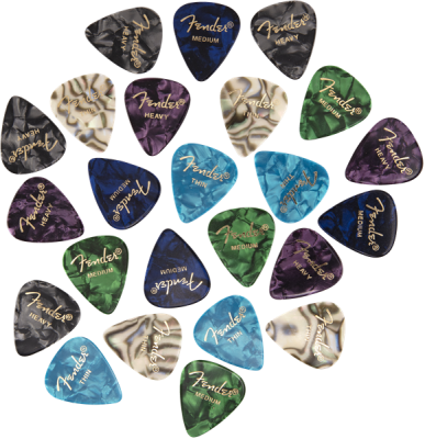 351 Shape Premium Celluloid Picks, Mixed (24 Pack)