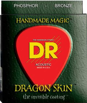 Dragon-Skin Coated Phosphor Bronze Acoustic Strings - 11-50
