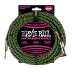 Ernie Ball - 18 Straight/Angle Braided Cable - Black/Green