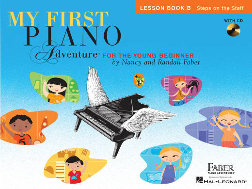 My First Piano Adventure - Lesson Book B Steps on the Staff - Faber - Piano - Book/CD