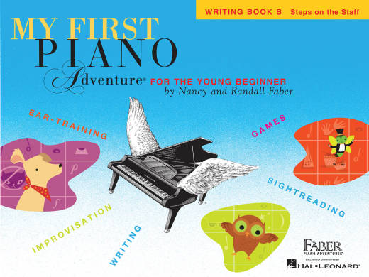 My First Piano Adventure - Writing Book B Steps on the Staff - Faber - Piano - Book