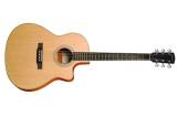 LV-03E Mahogany Recording Series L-Body Cutout Acoustic/Electric Guitar with Case