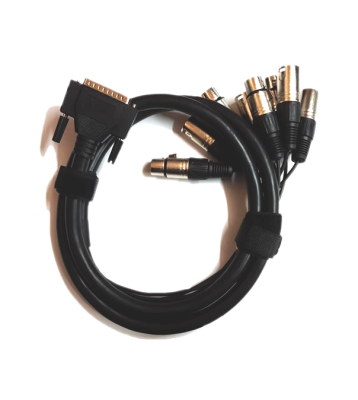 DB-25 Male to XLR-Male 8-Channel Analogue Input Cable - 1.5m