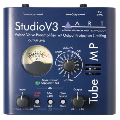 TubeMP Studio V3 - Tube Mic Preamp with V3 and Meter