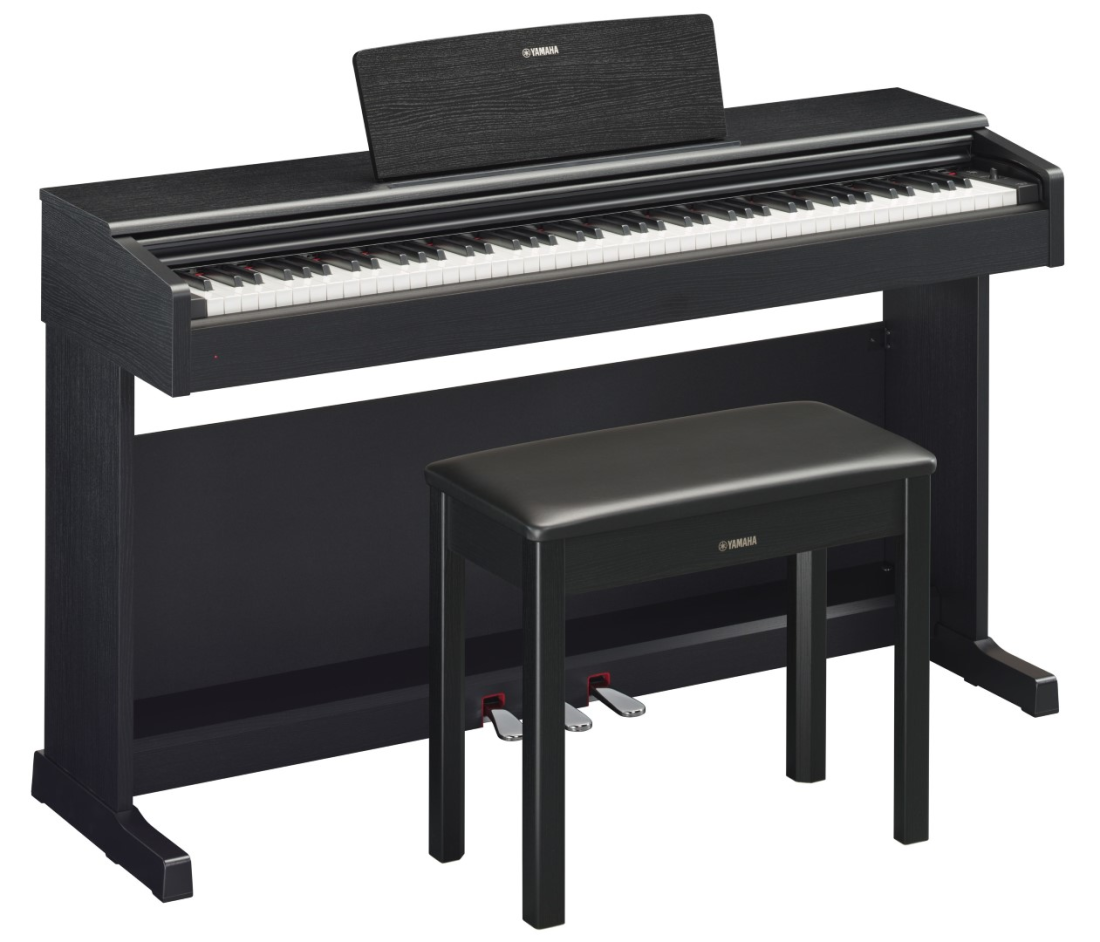 Yamaha - Arius YDP-144 Digital Piano w/ GHS Keyboard - Black