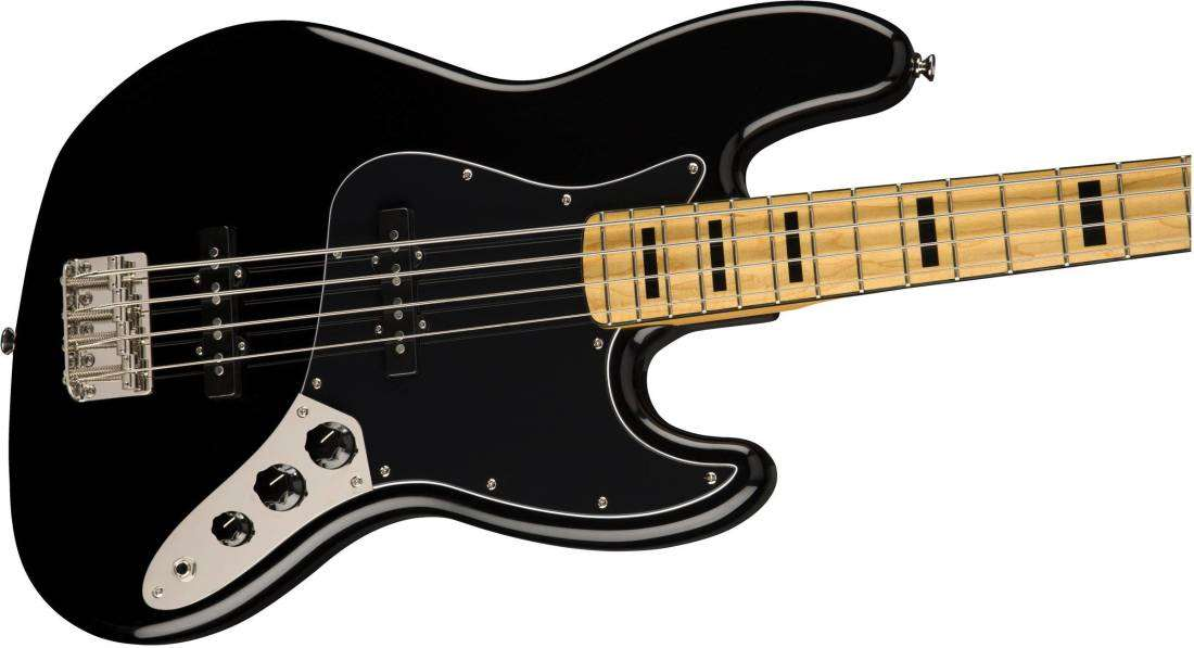 squier classic vibe  u0026 39 70s jazz bass  maple fingerboard - black
