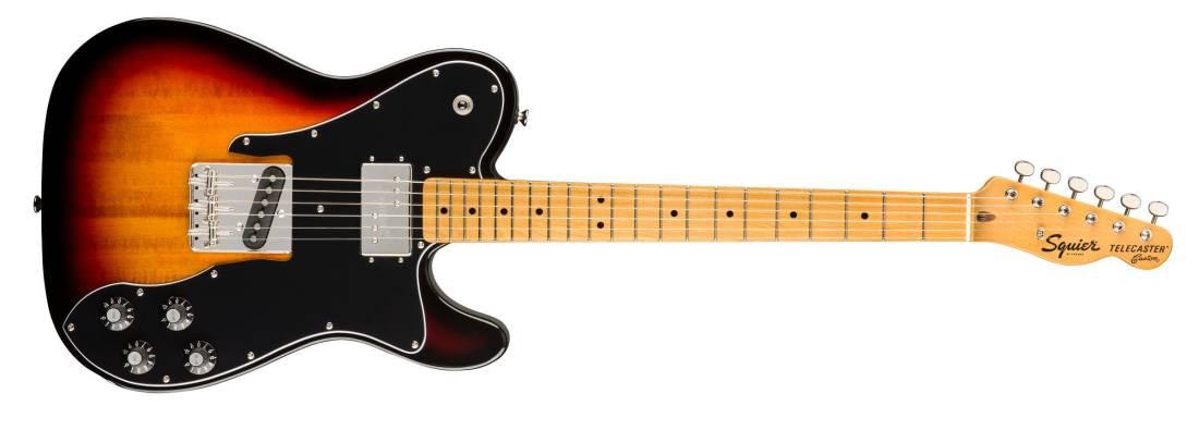 squier classic vibe 39 70s telecaster custom maple fingerboard 3 tone sunburst long mcquade. Black Bedroom Furniture Sets. Home Design Ideas