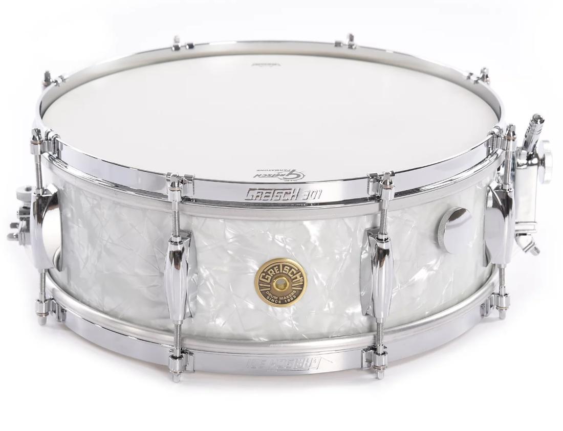 gretsch drums usa custom series snare marine pearl 10 lug long mcquade. Black Bedroom Furniture Sets. Home Design Ideas