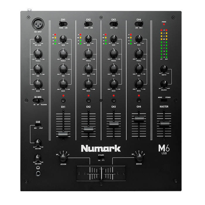 Numark - M6 USB - 4 Channel Tabletop DJ Mixer