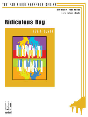 Ridiculous Rag - Olson - Piano Duet (1 Piano, 4 Hands)