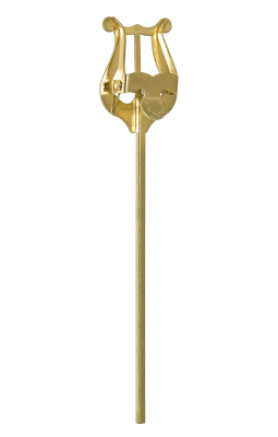 Baritone Lyre - 6'' Straight - Gold Lacquered