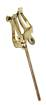 Trophy - Trumpet Lyre - 4 Straight-Stem - Gold-Lacquered