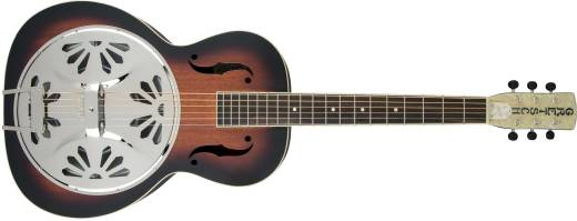 G9220 Bobtail Round-Neck A.E., Mahogany Body Spider Cone Resonator Guitar w/Pickup - 2-Colour Sunburst