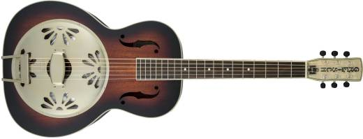 G9241 Alligator Biscuit Round-Neck Resonator Guitar with Fishman Nashville Pickup - 2-Colour Sunburst