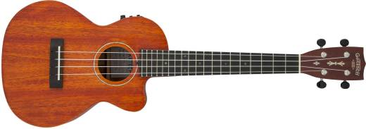 G9121 A.C.E. Tenor Ukulele, Acoustic-Electric with Gig Bag, Ovangkol Fingerboard, Fishman Kula Pickup - Honey Mahogany Stain