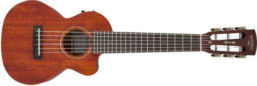 G9126 A.C.E. Guitar-Ukulele, Acoustic-Electric with Gig Bag, Ovangkol Fingerboard, Fishman Kula Pickup - Honey Mahogany Stain