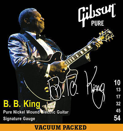 gibson bb king signature electric strings 10 54 long mcquade musical instruments. Black Bedroom Furniture Sets. Home Design Ideas