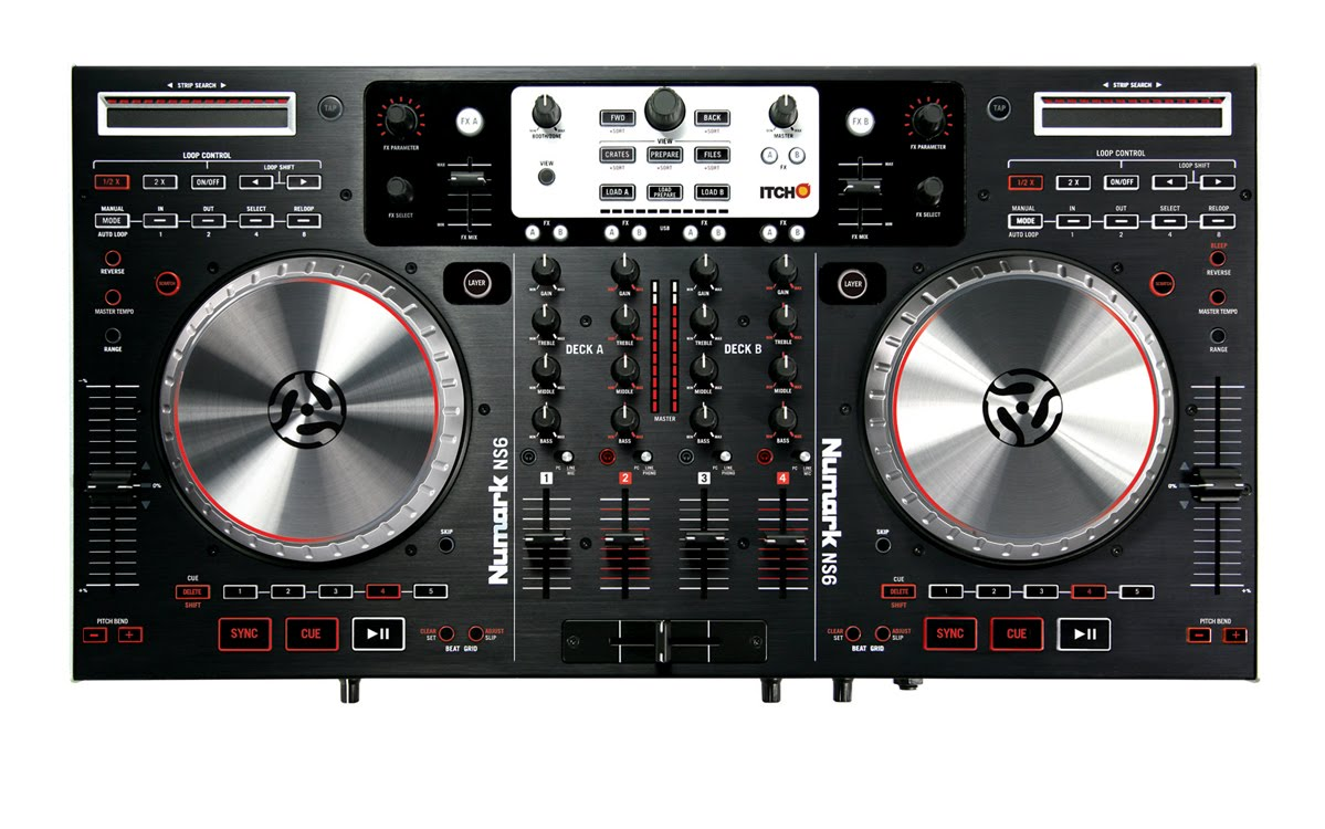Numark Ns6 4 Ch Dj Controllermixer With Serato Itch Long