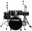 Sonor - AQ1 Studio 5-Piece Drum Kit (20,10,12,14, 14 Snare) w/Hardware - Piano Black