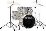 Sonor - AQ1 Studio 5-Piece Drum Kit (20,10,12,14, 14 Snare) w/Hardware - Piano White