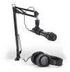 Audio-Technica - Podcasting Pack - AT2005 USB/XLR Microphone, ATH-M20x Headphones & Boom-Arm