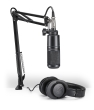 Audio-Technica - Podcasting Pack - AT2020-XLR Microphone, ATH-M20x Headphones & Boom-Arm
