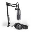 Audio-Technica - Podcasting Pack - AT2020-USB Microphone, ATH-M20x Headphones & Boom-Arm