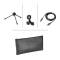 Podcasting Pack - AT2020-USB Microphone, ATH-M20x Headphones & Boom-Arm