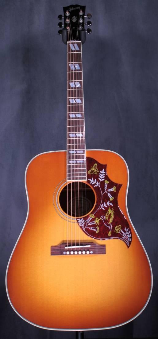 gibson hummingbird acoustic guitar cherry sunburst long mcquade musical instruments. Black Bedroom Furniture Sets. Home Design Ideas