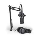 Audio-Technica - AT2035PK Podcasting Pack w/ATH-M20x, Boom & XLR Cable