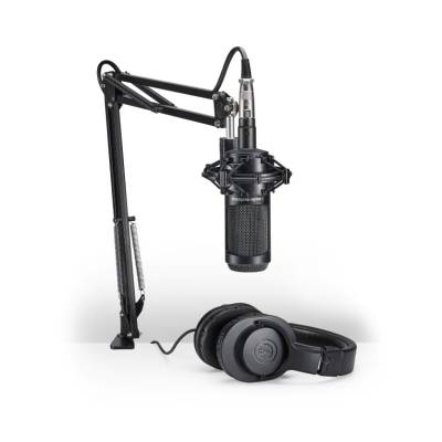 AT2035PK Podcasting Pack w/ATH-M20x, Boom & XLR Cable