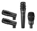 Audio-Technica - PRO-DRUM4 Drum Microphone Pack - PRO25AX, PRO63, PRO23(pair)