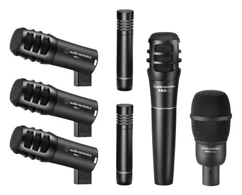 PRO-DRUM7 Drum Microphone Pack - PRO25AX, PRO63, PRO23(x3), AT2021(x2)