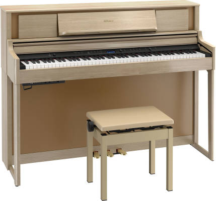 LX705 Digital Piano w/Stand & Bench - Light Oak