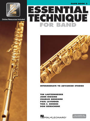 Essential Technique for Band (Intermediate to Advanced Studies) Book 3 - Flute - Book/Media Online (EEi)