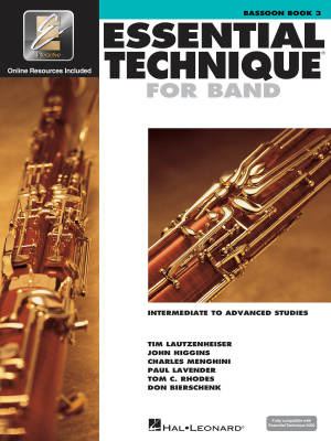 Essential Technique for Band (Intermediate to Advanced Studies) Book 3 - Bassoon - Book/Media Online (EEi)