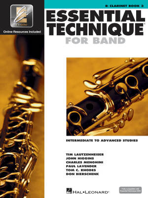 Essential Technique for Band (Intermediate to Advanced Studies) Book 3 - Clarinet - Book/Media Online (EEi)