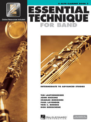 Essential Technique for Band (Intermediate to Advanced Studies) Book 3 - Alto Clarinet - Book/Media Online (EEi)