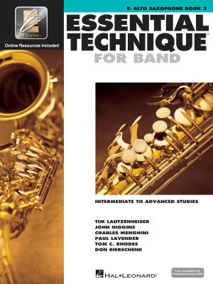 Essential Technique for Band (Intermediate to Advanced Studies) Book 3 - Alto Saxophone - Book/Media Online (EEi)